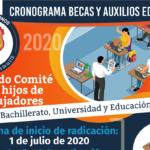 Formatos y cronograma de radicación segundo comité de becas y auxilios hijos de trabajadores