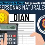 Declaración de renta año gravable 2019 personas naturales