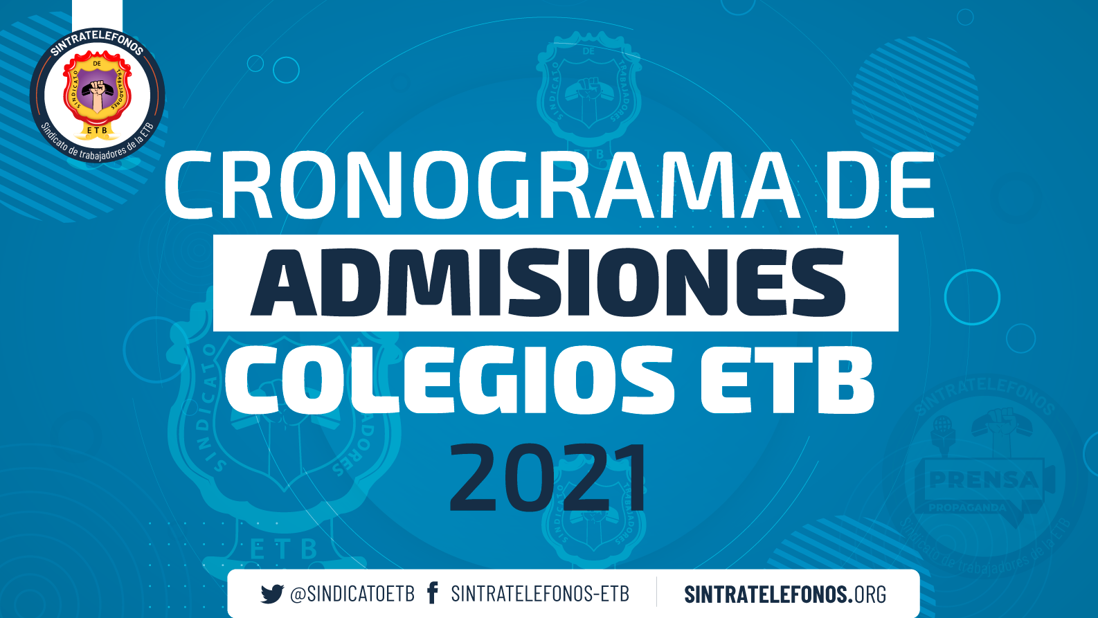 Cronograma de Admisiones Colegios ETB 2021