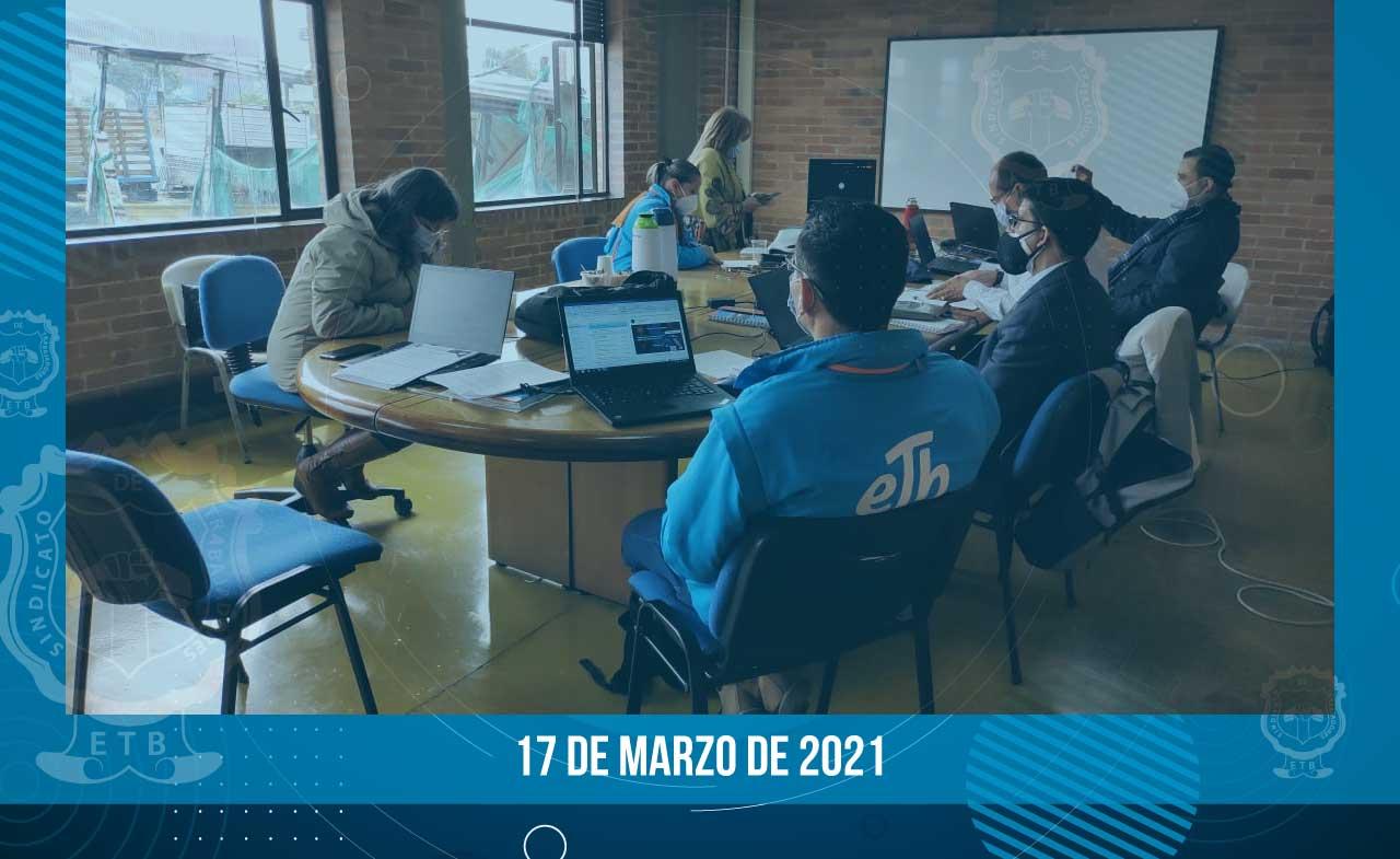 Avance de negociación - 17 de marzo 2021